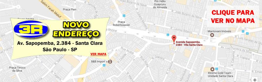 Mapa Tres R Auto Peças